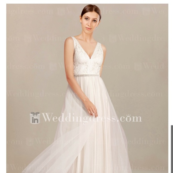 55ad0ab94265 in wedding dress Dresses   Ivory Wedding Gown With Embroidery Tulle ...